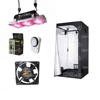 Combo Indoor Carpa 100 + Led 300w Coolers Timer Polea