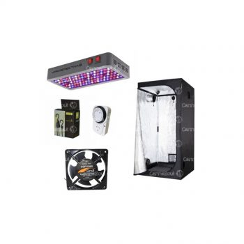 Combo Indoor Carpa 120 + Led 450w Coolers Timer Polea