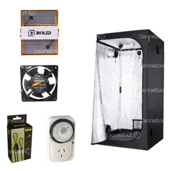 Combo Indoor Carpa 80 + Led Bioled 110i Coolers Poleas Timer