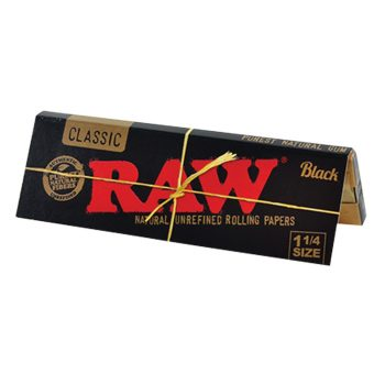 Papel Raw Black 1 1/4